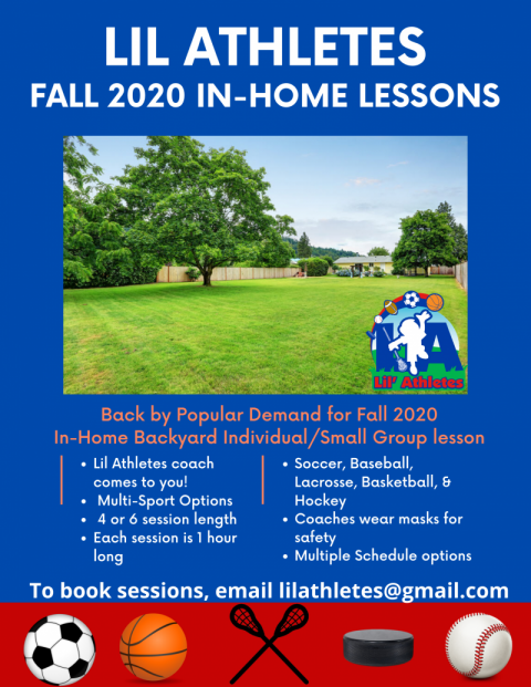 In-Home Private or Group Lessons-Now booking September & October 2020!