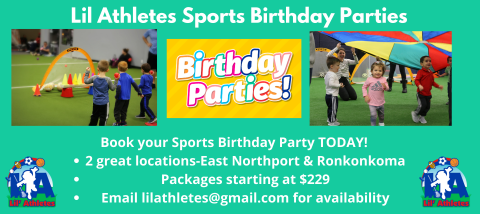 Exclusive Sports Birthday Parties (Packages starting @ $229)